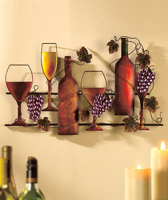 Wine Rack Or Wall Hanging Creates The Perfect Atmosphere For Wine