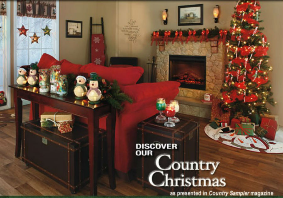 Lakeside Country Christmas on rustic christmas decorating ideas