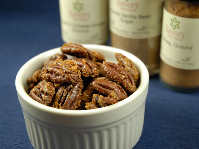 Sweet-spicy-pecans
