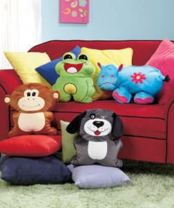 plush animal pillows