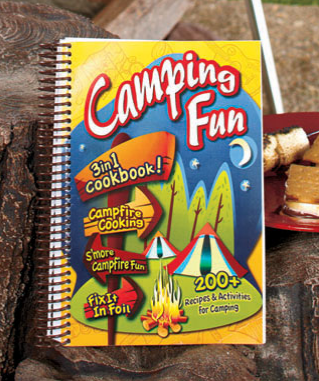 "3-In-1 Camping Fun Cookbook includes over 200 recipes and activities for the entire family. This 256-page cookbook combines 3 bestselling books. In the Campfire Cooking section, you'll learn to prepare 69 easy campfire favorites, including Sailor S'Mores. Fix It In Foil includes tasty recipes that can be wrapped ahead of time, frozen or refrigerated and then baked in the same package. S'More Campfire Fun is packed with everything from constellation charts and spooky ghost stories to flashlight games and nature crafts. Spiral-bound softcover. 9"" x 6-3/4""."