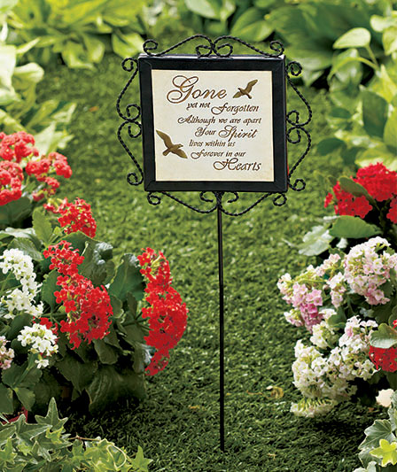 Beautiful Memorial Garden Stakes