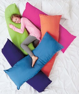 "Add a 52"" Bright Body Pillow to your space for a pop of color and amazing comfort."