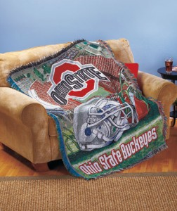 Collegiate Tapestry Throw lets you cuddle up with your favorite team.