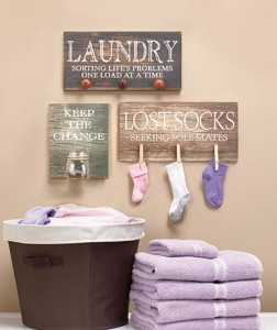 Laundry Room Wall Hanging is a novel way to give that room some character.