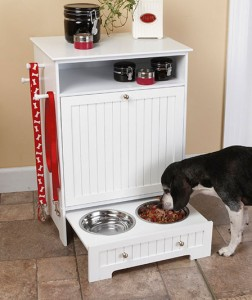 Your pet deserves to dine in style, and this Pet Food Cabinet with Bowls lets him do that without costing you a fortune.
