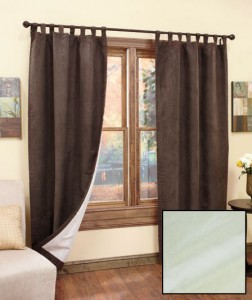 Reduce energy costs while adding the luxurious look of suede to your favorite room with a Set of 2 Insulated Sueded Curtains.