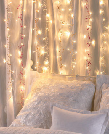 "Set of 2 Beaded Light Strings add a beautiful ambiance to any space. The 20 white LED lights combine with colored beads for a pretty glow. Convenient battery case means you can place them almost anywhere indoors. Set requires 4 ""AA"" batteries. Includes on/off switch. 55"", each."