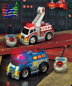 Fun lights, sounds, and moving parts on this Rush & Rescue Remote Control Vehicle will help your little one save the day.