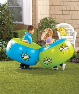 More fun than bumper cars or a pillow fight, this Sumo Bumper Bopper has a fun, kid-friendly design.