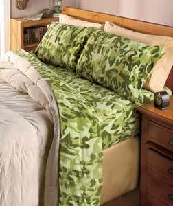 Camo Fleece Sheet Sets make it a lot easier to hide in bed all day.