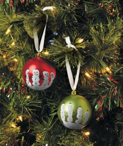 Handprint Ornament Kit gives your Christmas tree a personalized touch from your kids.