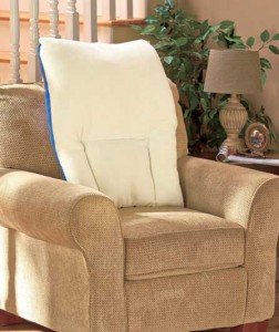 The High Back Sherpa Comfort Pillow lets you relax in softness and comfort while reading a book, watching TV and more.