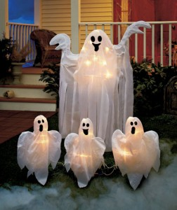 Make yours the scariest house on the block for Halloween night with these Lighted Ghosts Yard Stakes.