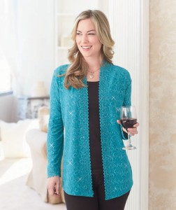 Add a little bling to your wardrobe with a Plus-Size Sparkle Cardigan.