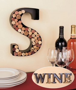 Metal Monogram Wine Cork Holder looks distinctive empty or when filled with tokens from your favorite wines.
