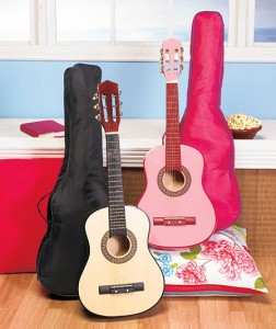"Inspire a young musician with this 30"" Wood Guitar With Case."