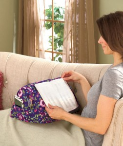 You'll read comfortably for hours with your book or e-reader on this plush Book Pillow.