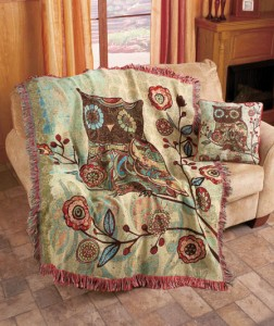 Add a fanciful touch to your living room or bedroom with this licensed Milo Owl Throw or Pillow.