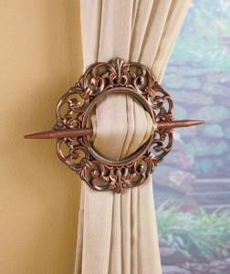A Set of 2 Window Tie-Backs creates a different look for your existing curtains.