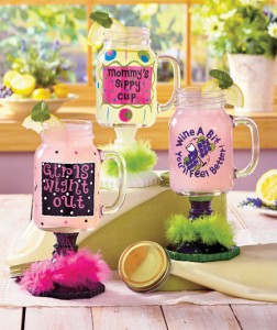 The colorful and fun design of the Whimsical Mason Jar Mug adds a festive touch to any day spent with the girls.