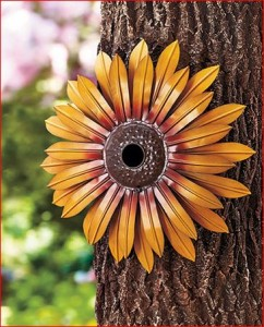 sunflower-bird-house