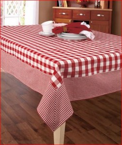 checked-tablecloth