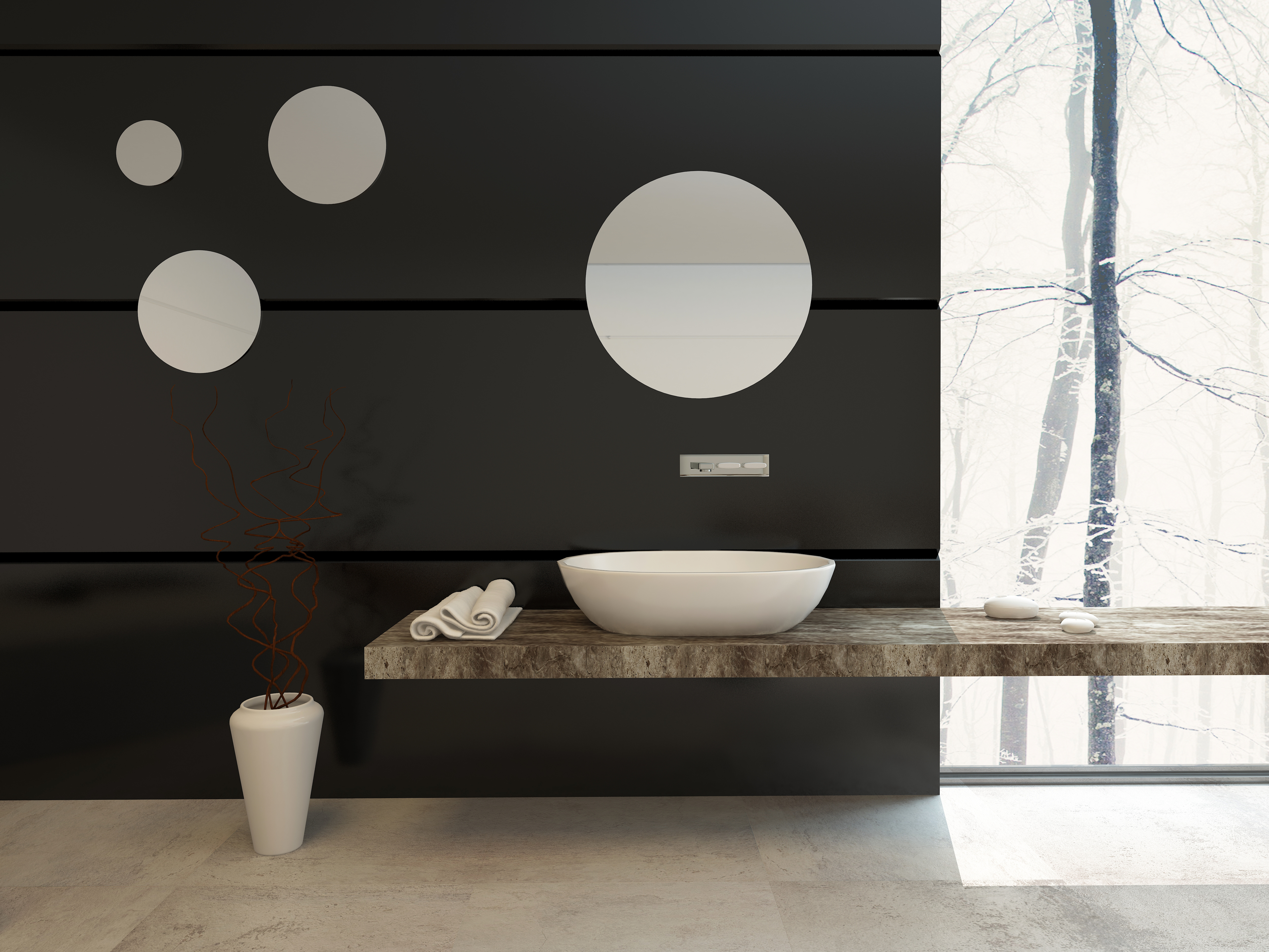 modern-bathroom-decor-black-wall