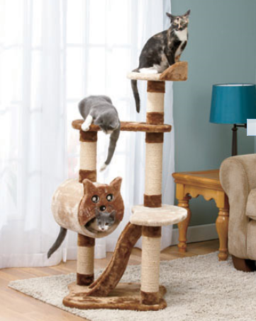 four-foot-multilevel-cat-tower-with-scratchers