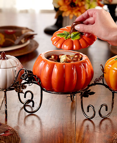 4-Pc.-Ceramic-Pumpkin-Centerpiece-Set