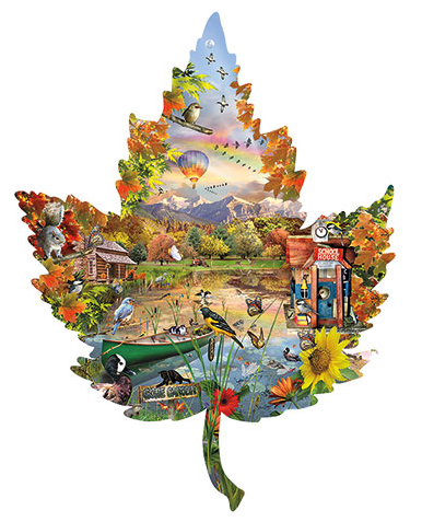 1000-Piece-Seasonal-Leaf-Shaped-Puzzle