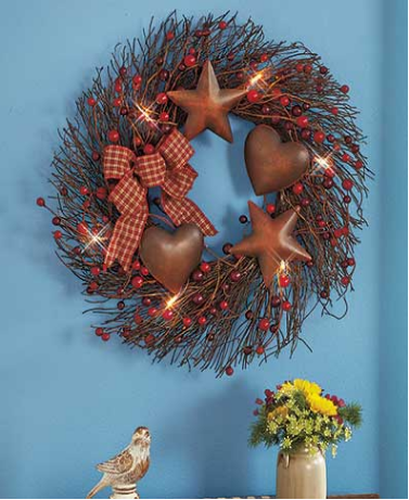 lighted-country-spray-or-wreath