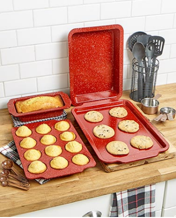 speckled bakeware