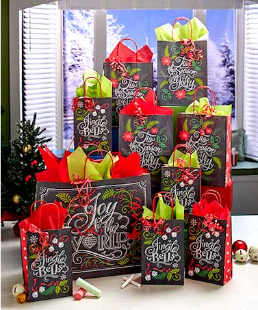 31-piece-chalkboard-carols-gift-bag-sets