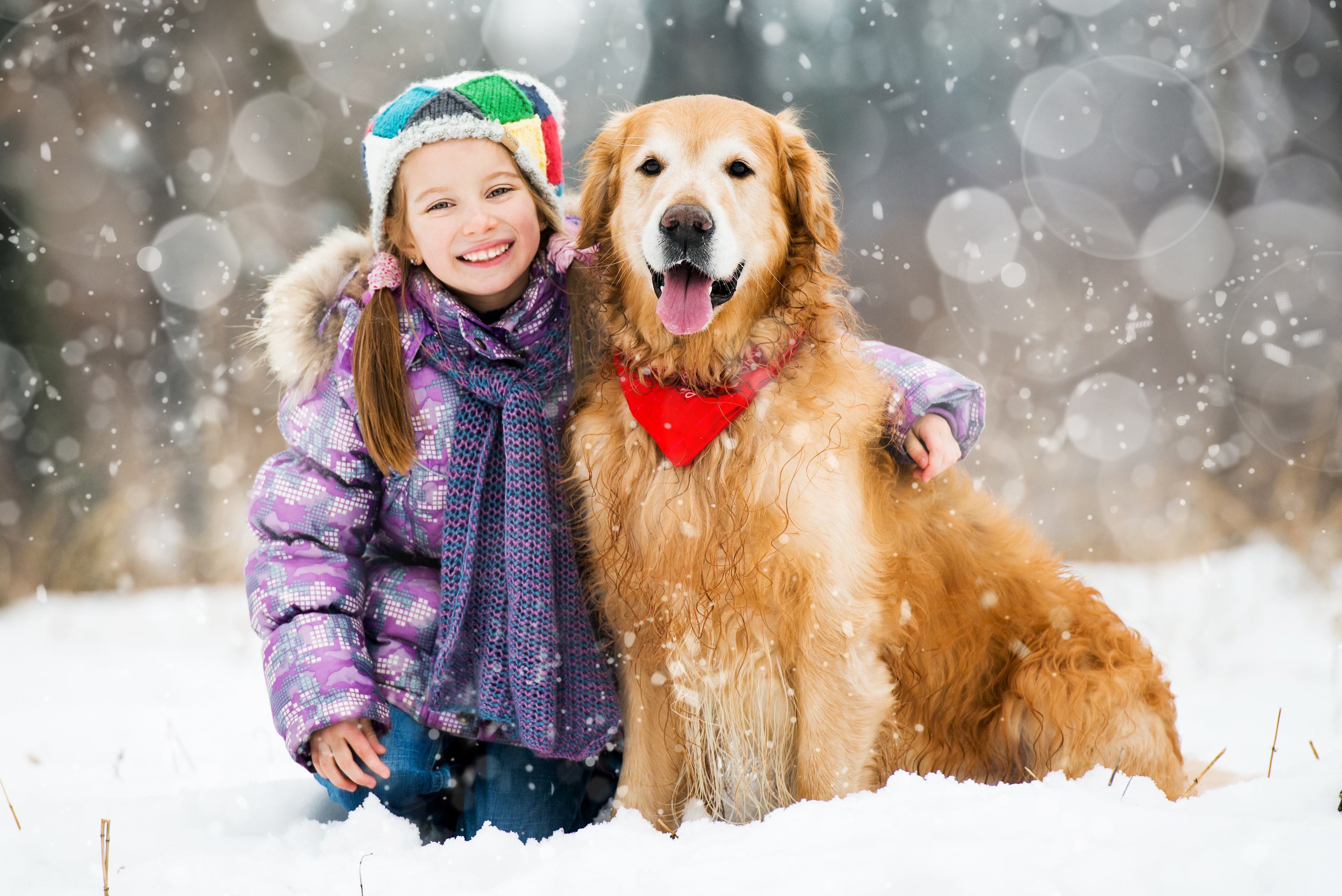 little-girl-in-snow-with-dog