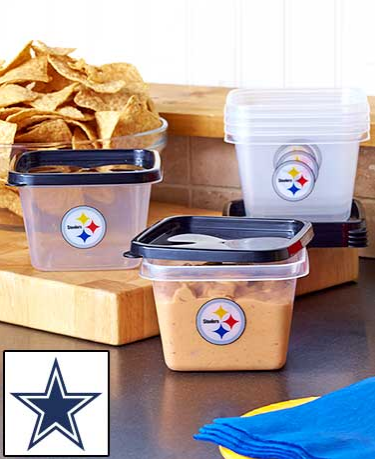 12 Piece NFL Food Storage Sets