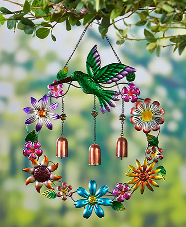 Metallic Garden Wind Chimes