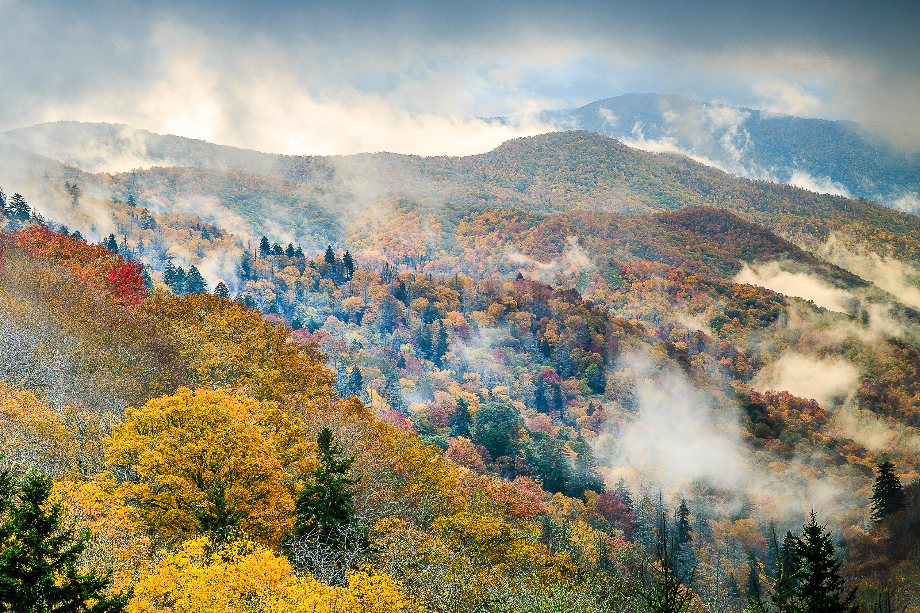 The Newfound Gap in the Smoky Mountains National Park - National Parks to Visit in Spring