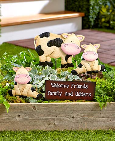 Garden Decor - Barnyard Family Welcome Stake Sets