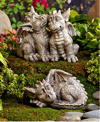 Garden Decor - Dragon Garden Statues