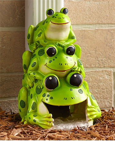 Garden Decor - Silly Stacked Critter Downspouts