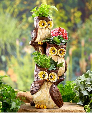 Garden Decor - Stacked Animal Planters