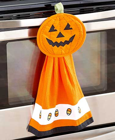 pumpkin-2-piece-halloween-kitchen-set-pumpkin-decorations