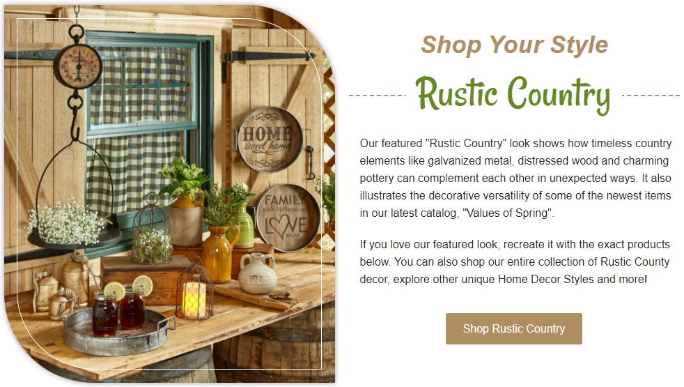 Shop Your Style - Rustic Country