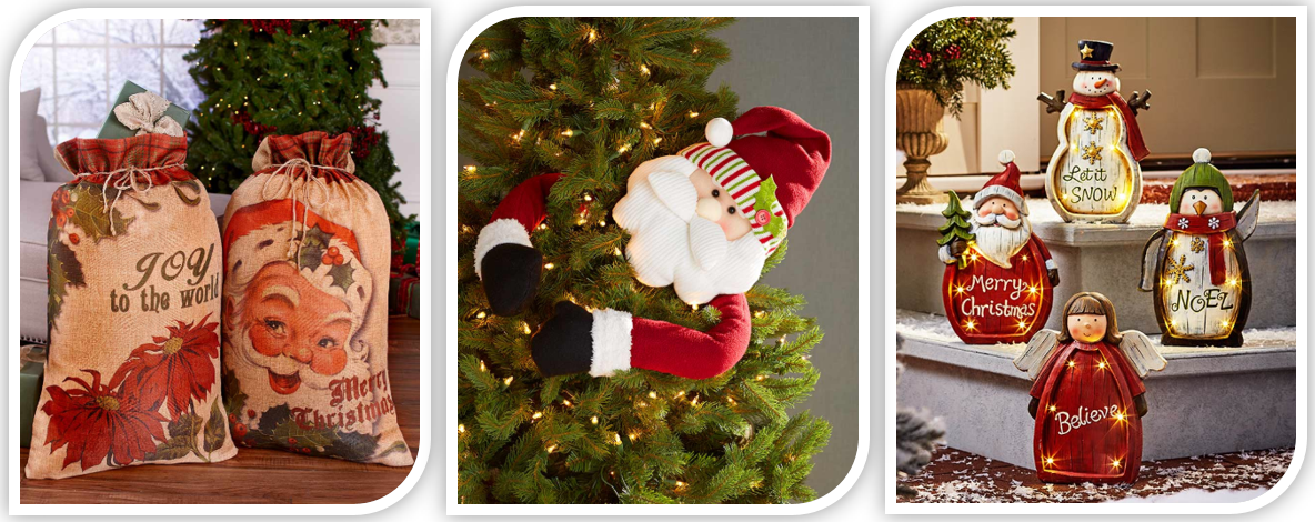 Here Comes Santa Claus - 12 Ways to Showcase Santa in Your Home