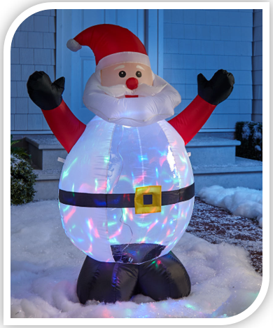 4 Foot Light and Motion Holiday Inflatables