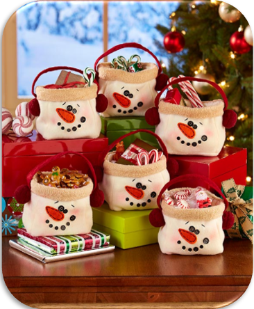 6-Piece Snowman Treat Bags