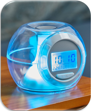 Color-Changing Alarm Clock with Nature Sounds