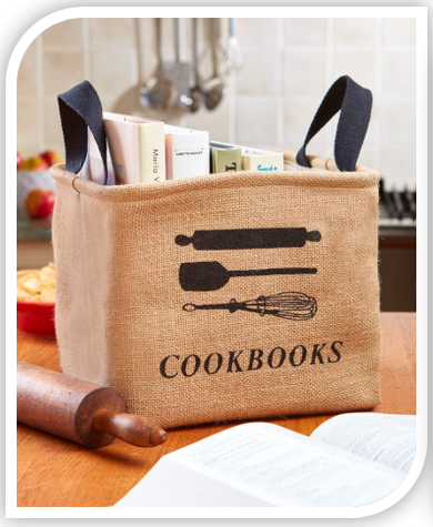 Cookbook Storage Bin