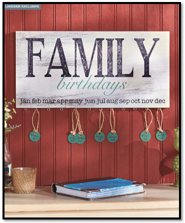 Family Birthday Plaque